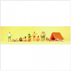 Preiser 10538 Figurines HO 1/87 Au camping - At the camp site