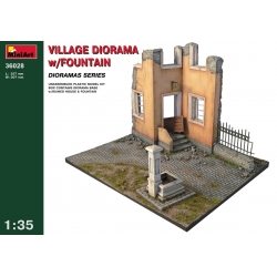 Miniart 36028 1/35 Village Diorama W/ Fontain