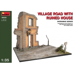 Miniart 36020 1/35 Village Road W/ Ruined House