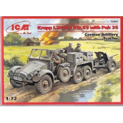 ICM 72461 1/72 Krupp L2H143 Kfz.69 with Pak 36 German Artillery Tractor