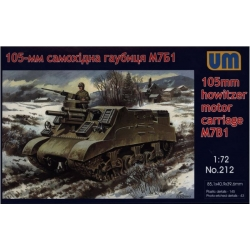 UNIMODELS 212 1/72 105 mm Howitzer Motor Carriage M7B0