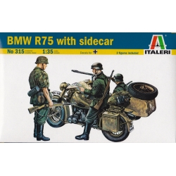 ITALERI 315 1/35 BMW R75 With Sidecar