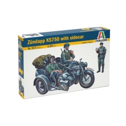 ITALERI 317 1/35 Zundapp KS750 With Sidecar