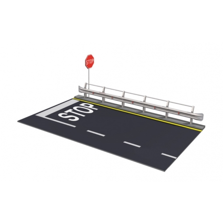ITALERI 3864 1/24 Guard Rail & Road Section For Display