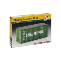 ITALERI 3888 1/24 Shipping Container 20 Ft.