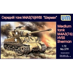 UNIMODELS 379 1/72 Medium tank M4A3(76) HVSS Sherman