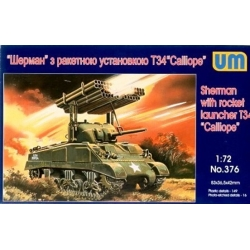 UNIMODELS 376 1/72 Sherman with rocket launcher T-34 Calliope