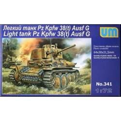 UNIMODELS 341 1/72 Light Tank Pz Kpfw 38(t) Ausf G