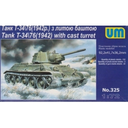 UNIMODELS 325 1/72 Tank T-34\76(1942) with cast turret