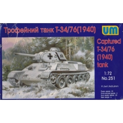 UNIMODELS 251 1/72 Captured T-34/76 (1940) tank