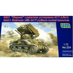 UNIMODELS 224 1/72 M4A1 Sherman with M17/4,5inch rocket launcher