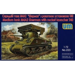 UNIMODELS 223 1/72 M4A2 Sherman with T40 rocket launcher