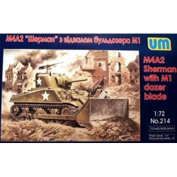 UNIMODELS 214 1/72 M4A2 Sherman with M1 Dozer Blade
