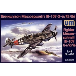 UNIMODELS 410 1/48 Fighter Messerschmitt Bf 109 G-6/R3/R6