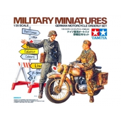 TAMIYA 35241 1/35 German Motorcycle Orderly Set
