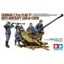 TAMIYA 35302 1/35 German 3.7cm Flak 37 Anti-aircraft Gun w/Crew