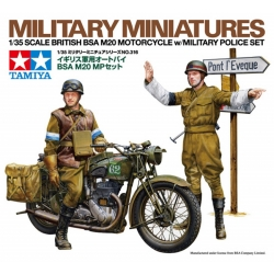TAMIYA 35316 1/35 British BSA M20 Motorcycle w/Military Police