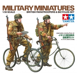 TAMIYA 35333 1/35 British Paratroopers & Bicycle set