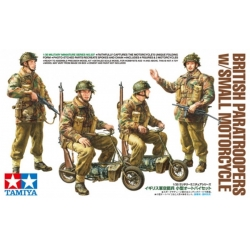 TAMIYA 35337 1/35 British Paratroopers with Small Motorcycle