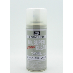 GUNZE Mr Hobby B-523 Mr Super Clear Varnish UV Cut Flat 170ml