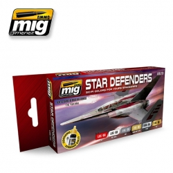AMMO OF MIG A.MIG-7130 Set De 6 flacons Star Defenders Sci-Fi 17ml