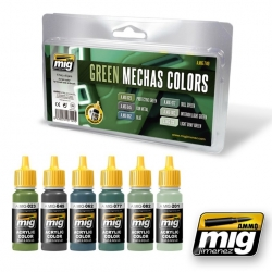 AMMO OF MIG A.MIG-7149 Green Mecha Colors 6x17ml