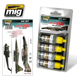 AMMO OF MIG A.MIG-7205 Set De 4 flacons 60S-70S USAF Tac Colors (Vietnam) 17ml