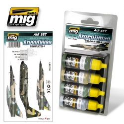AMMO OF MIG A.MIG-7206 Paint Set Argentinian Colors Vol.1 (Faklands War) 4x17ml