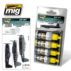 AMMO OF MIG A.MIG-7207 Acrylic Paint Set (4Jars) US Navy WWII Colors 17ml