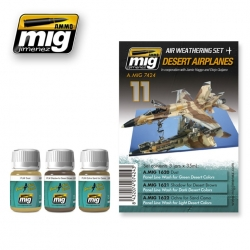 AMMO OF MIG A.MIG-7424 Paint Set Desert Airplanes 3x35ml