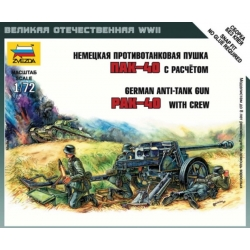 ZVEZDA 6257 1/72 German Anti Tank Gun PAK-40 with Crew