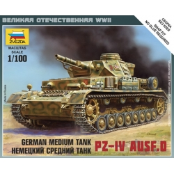 ZVEZDA 6151 1/100 German Medium Tank PZ-IV Ausf. D