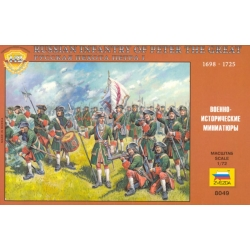 ZVEZDA 8049 1/72 Russian Infantry of Peter I, the Great