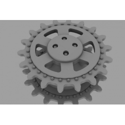 PANZER ART RE35-095 Drive Wheels for Panther / Jagdpanther (Final Model)