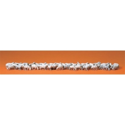 Preiser 14411 Figurines HO 1/87 Troupeau de 60 moutons - Flock of 60 sheep