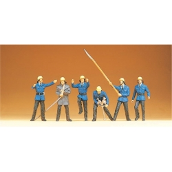 Preiser 14203 Figurines HO 1/87 Pompiers - Firemen