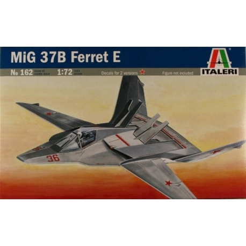 "ITALERI 0162 1/72 MIG 37B ""Ferret E"" Stealth Fighter"
