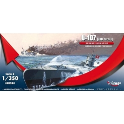 MIRAGE HOBBY 350503 1/350 German Submarine U-107 (IXB Turm I)