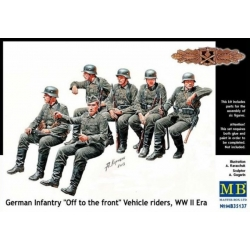 """MasterBox MB35137 1/35 German Infantry """"Off to the front"""" Vehicle riders, WW II Era"""