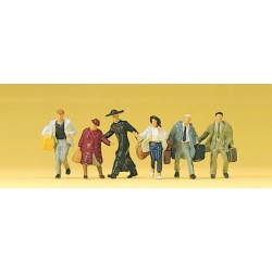 Preiser 10327 HO 1/87 Passengers, hurrying (Voyagers)