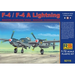 RS MODELS 92115 1/72 Lockheed F-4/F-4A Lightning