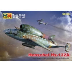 RS MODELS 92153 1/72 Henschel Hs-132 A with BMW003