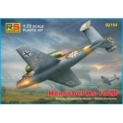 RS MODELS 92154 1/72 Henschel Hs-132 B with Jumo004