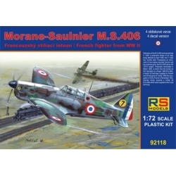 RS MODELS 92118 1/72 Morane-Saulnier M.S. 406 France 1940