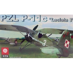 """PLASTYK S046 1/72 PZL P-11c """"Laciata 3"""""""