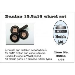 Mirror Models 35011 1/35 Dunlop 10,5x16 Wheel Set