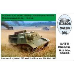 Mirror Models 35201 1/35 Russian Tractor T20 Late