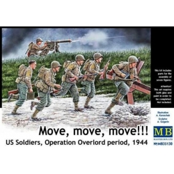 MasterBox MB35130 1/35 Move, move, move!!! U.S. Soldiers Operation Overlord period, 1944