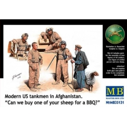 """MasterBox MB35131 1/35 Modern US tankmen in Afghanistan. """"Buy one of your sheep for a BBQ"""""""