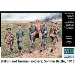 MasterBox MB35158 1/35 British and German soldiers Somme Battle, 1916
